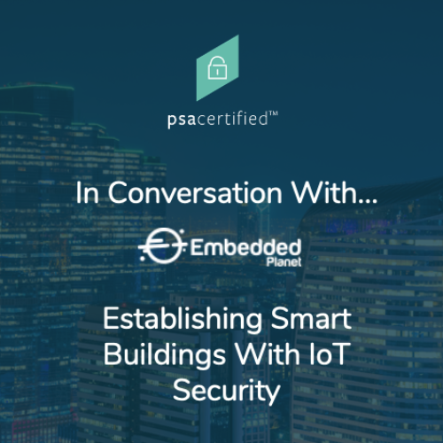 Title screen: Establishing Smart Buildings with IoT Security