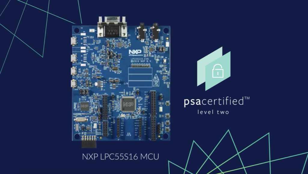 The LPC55S1x MCU family is PSA Certified Level 2