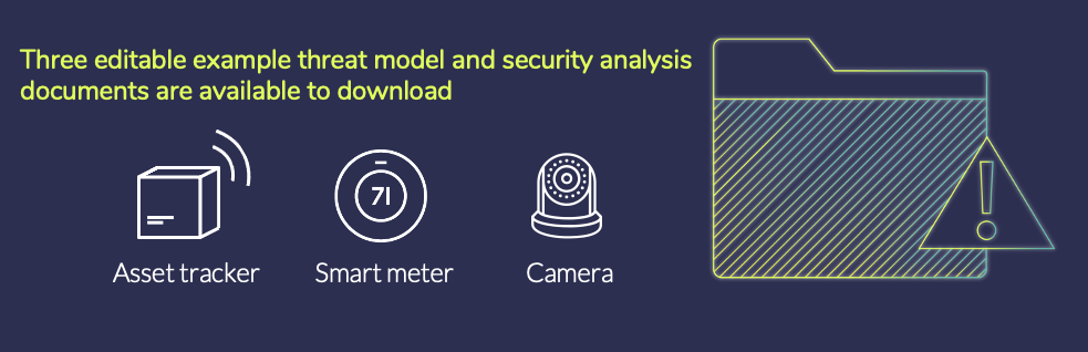The PSA Certified founders provide three editable example threat models to enable the IoT ecosystem to take steps today to protect society tomorrow.