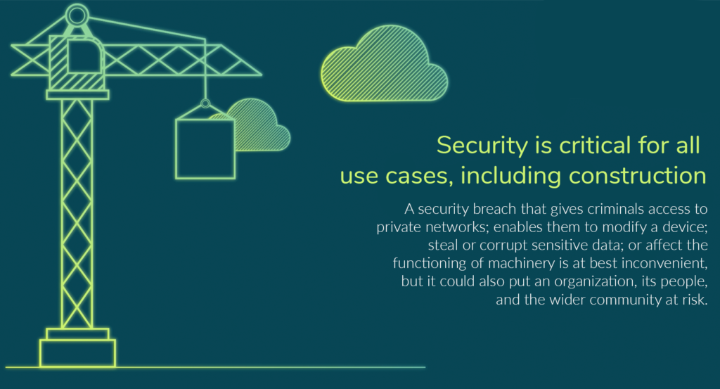 What are the implications of unsecure construction IoT deployments?