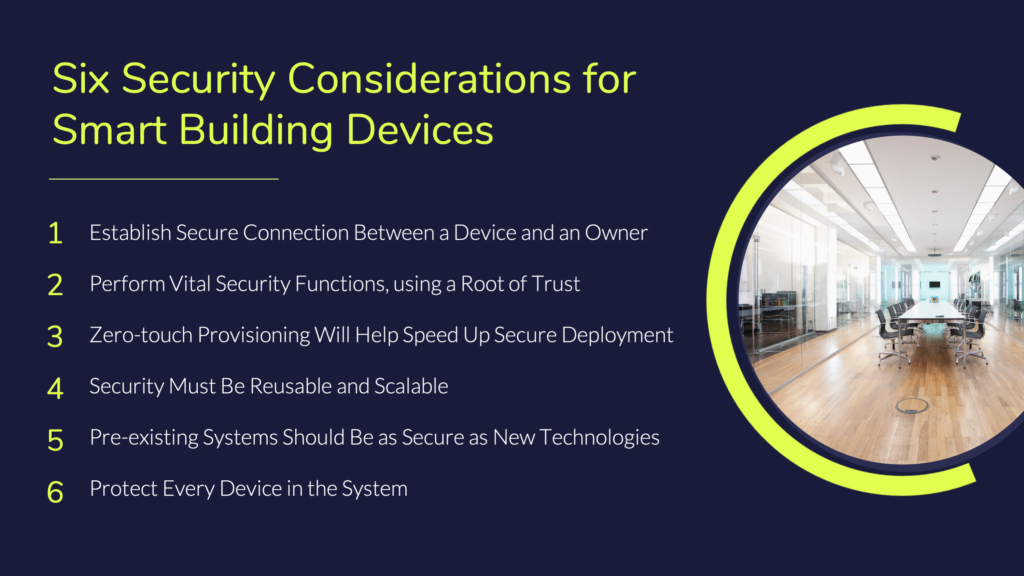 Six Security Considerations for Smart Building Devices