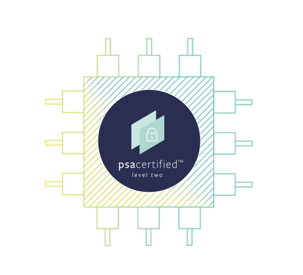 PSA Certified Level 2 indicates that a chip can help protect against scalable software attacks and addresses threats like malicious firmware updates and protection of device secrets